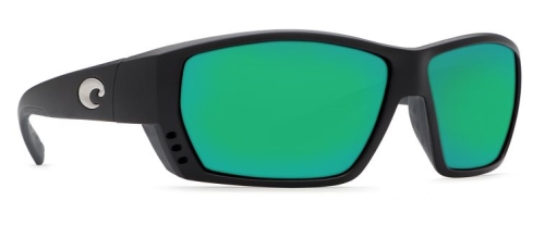 Tuna Alley Matte Black, Green Mirror 580G