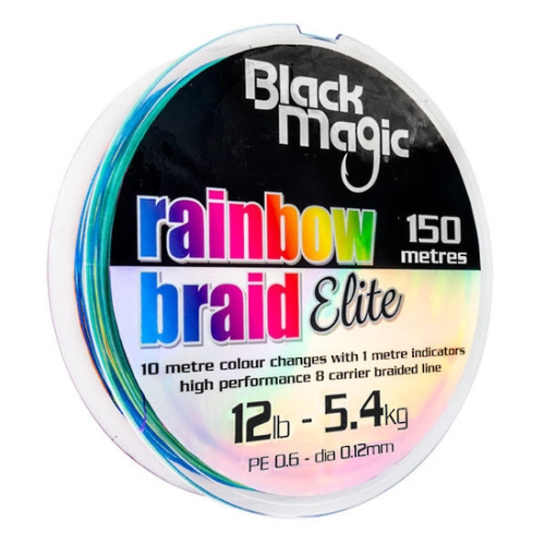 BMT 12lb (5.4 kg) 150mtr Rainbow braid elite