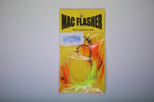 Mac Flasher Snapper Banquet  5/0c Orange